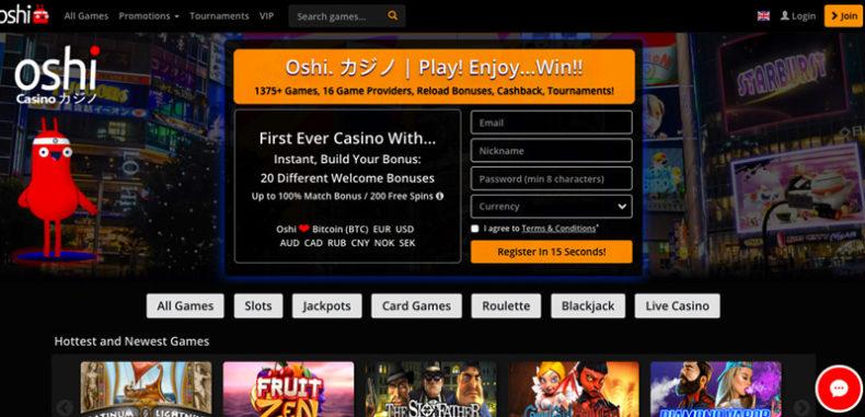 Oshi Casino Banner