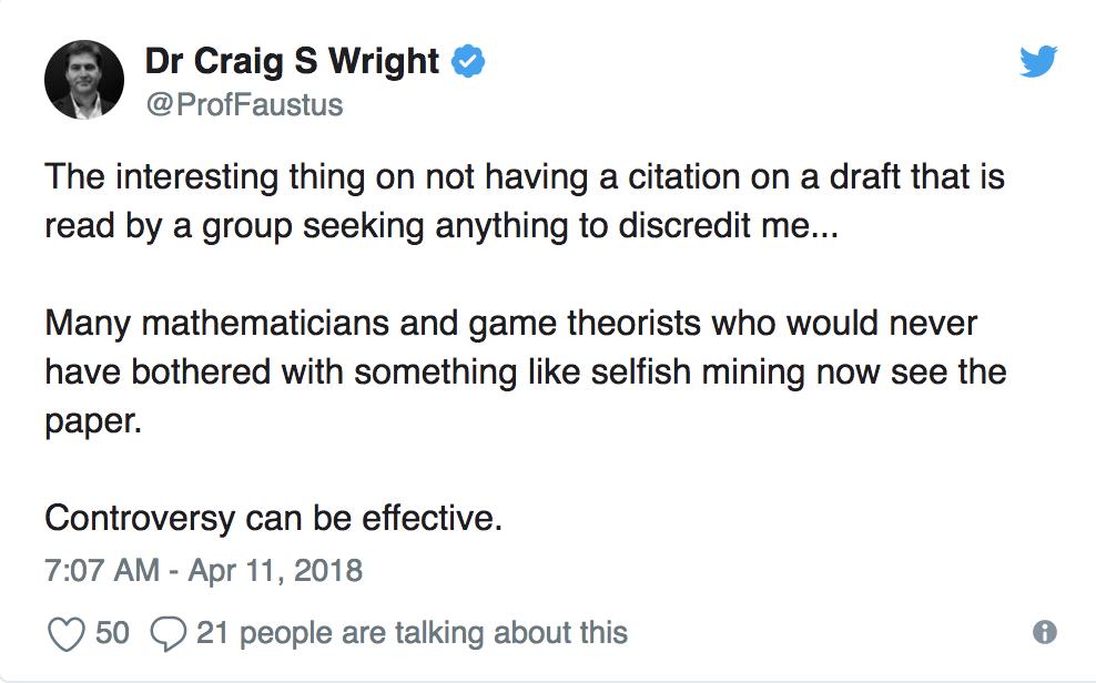 Craig Wright Shrugs Away Plagiarism Accusations
