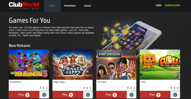 Club World Casinos Screenshot