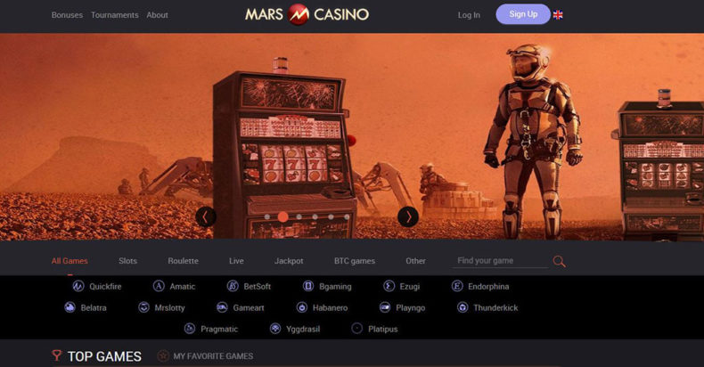 Mars Casino Screenshot